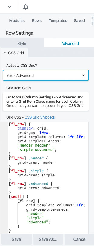 CSS Grid Advanced Options